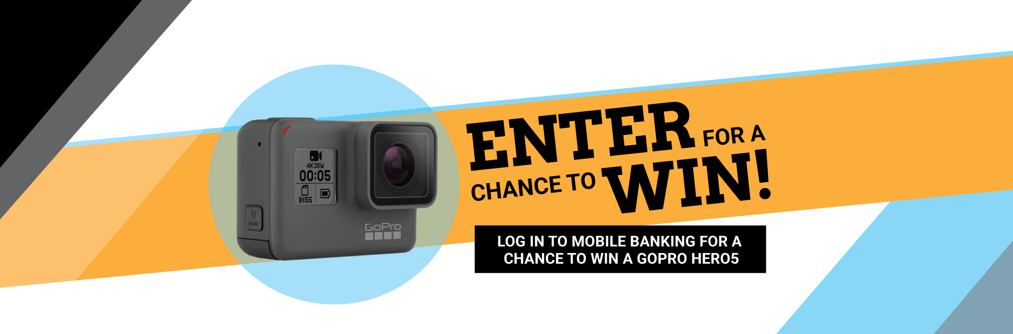 Mobile Banking Contest Banner