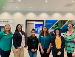 Picture of the Dade City Office on St. Patrick's Day