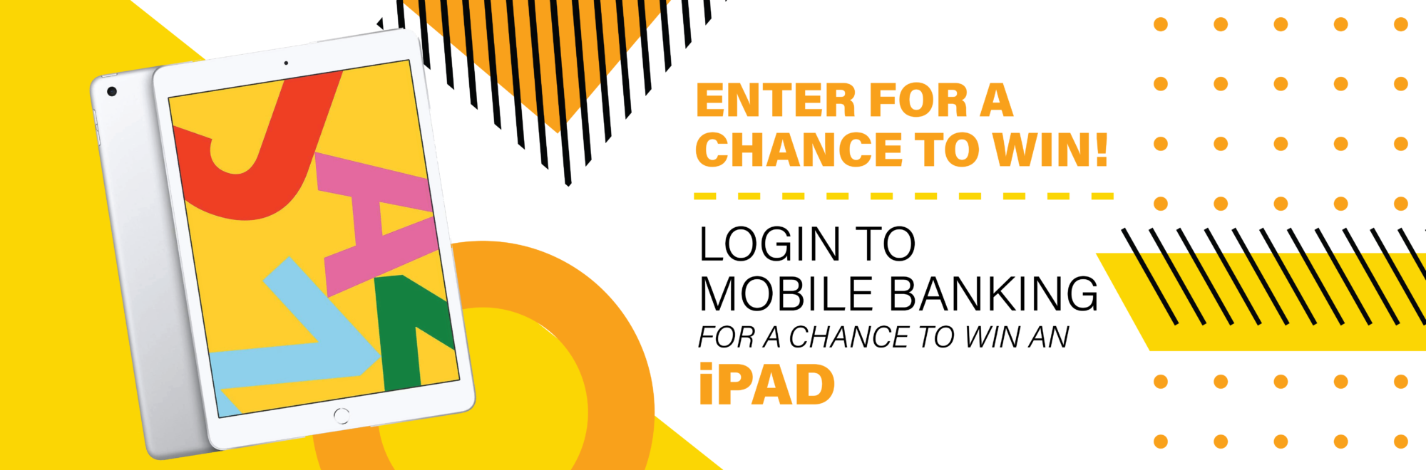 Enter for a chance to win an iPad by logging into Mobile Banking on the SACFCU mobile app