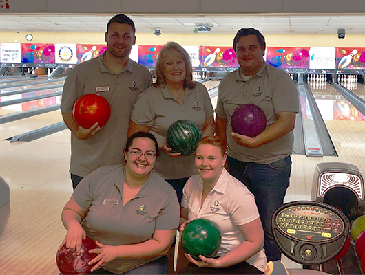SACFCU Employees at the bowling alley in support of the Dade City Noon Rotary Club's 9th Annual Rotary Bowl.