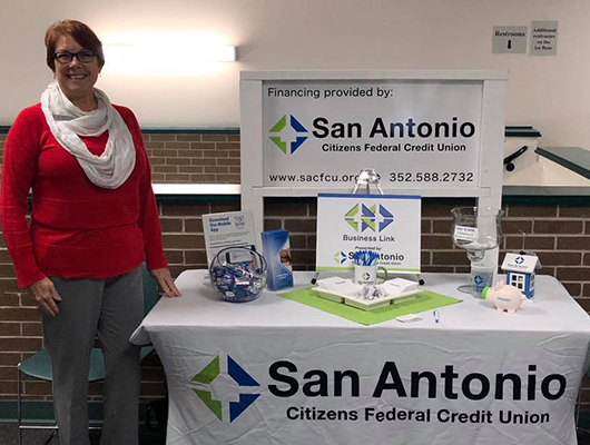 """SACFCU Employee at """"Discover Dade City"""" presented by the Greater Dade City Chamber of Commerce & the Realtors Association of East and Central Pasco."""