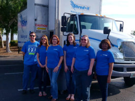 SACFCU Employees during Shred-It Day 2018