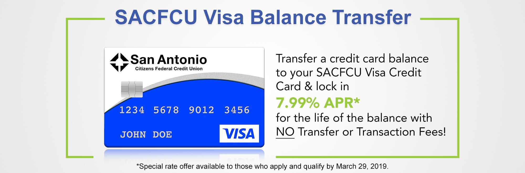 2019 Visa Balance Transfer Image
