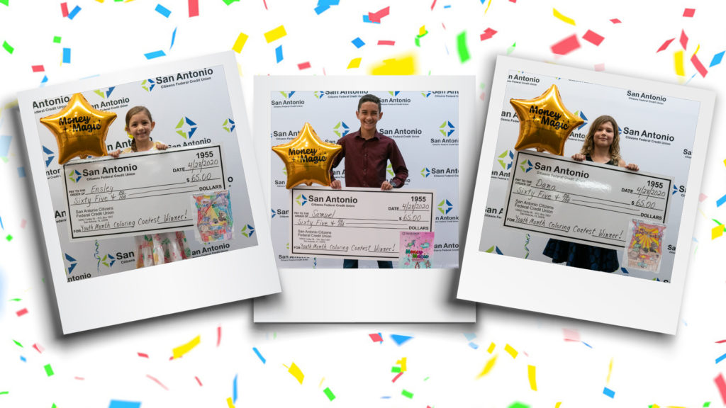 Image of the three 2020 Youth Month Contest Winners