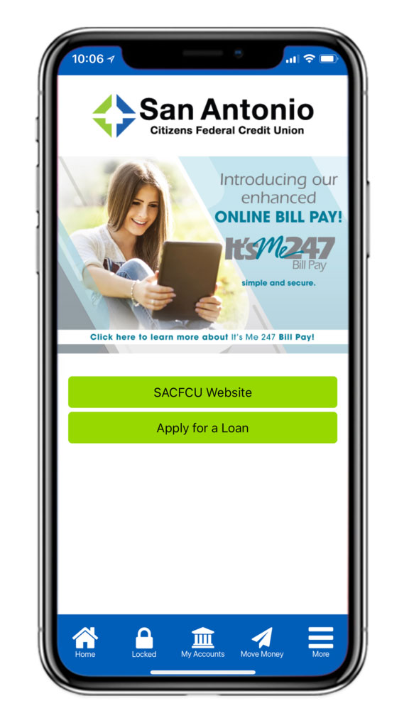 San Antonio Mobile App Screenshot. Introducing our enhanced Bill Pay!